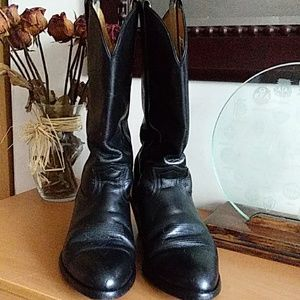 Frye Black Cowboy / Western Pull On Boots 11
